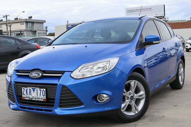 Used Ford Focus LW MkII Trend PwrShift Coburg North, 2012 Ford Focus LW MkII Trend PwrShift Blue 6 Speed Sports Automatic Dual Clutch Hatchback