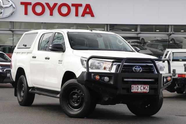 Pre-Owned Toyota Hilux GUN126R SR Double Cab Upper Mount Gravatt, 2019 Toyota Hilux GUN126R SR Double Cab White 6 Speed Sports Automatic Utility