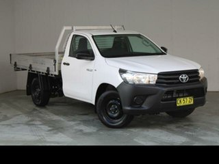 2016 Toyota Hilux TGN121R Workmate Glacier White 6 Speed Automatic Cab Chassis