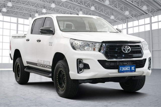 Used Toyota Hilux GUN126R SR Double Cab Victoria Park, 2018 Toyota Hilux GUN126R SR Double Cab White 6 Speed Sports Automatic Utility