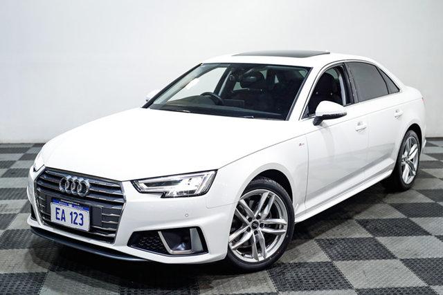 Used Audi A4 B9 8W MY19 35 TFSI S Tronic S Line Edgewater, 2019 Audi A4 B9 8W MY19 35 TFSI S Tronic S Line White 7 Speed Sports Automatic Dual Clutch Sedan