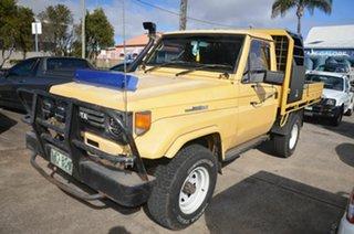 1991 Toyota Landcruiser HZJ75RP (4x4) Yellow 5 Speed Manual 4x4 Cab Chassis.
