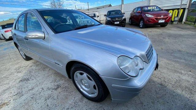Used Mercedes-Benz C-Class W203 MY2003 C180 Kompressor Classic Maidstone, 2003 Mercedes-Benz C-Class W203 MY2003 C180 Kompressor Classic Silver 5 Speed Automatic Sedan