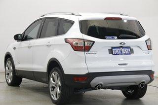 2018 Ford Escape ZG 2018.75MY Titanium Frozen White 6 Speed Sports Automatic Dual Clutch SUV.