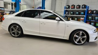 2014 Audi A4 B8 (8K) MY14 2.0 TFSI S-Line Quattro White 7 Speed Auto Direct Shift Sedan.