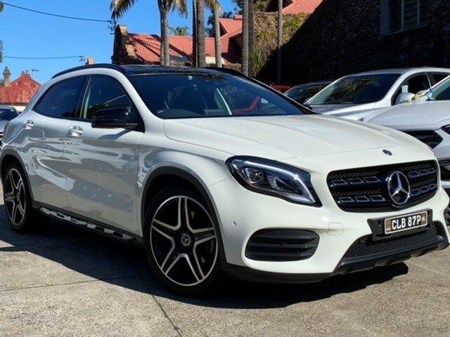 Pre-Owned Mercedes-Benz GLA250 4Matic X156 MY18 Mosman, 2017 Mercedes-Benz GLA250 4Matic X156 MY18 Calcite White 7 Speed Auto Dual Clutch Wagon