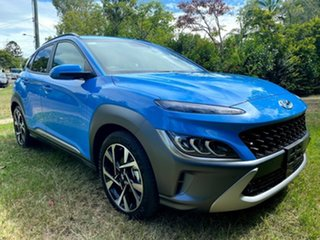 2021 Hyundai Kona Os.v4 MY21 Highlander 2WD Surfy Blue 8 Speed Constant Variable Wagon.