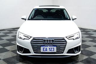 2019 Audi A4 B9 8W MY19 35 TFSI S Tronic S Line White 7 Speed Sports Automatic Dual Clutch Sedan.