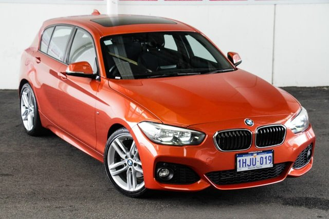 Pre-Owned BMW 118i F20 LCI Sport Line Myaree, 2015 BMW 118i F20 LCI Sport Line Orange 8 Speed Automatic Hatchback