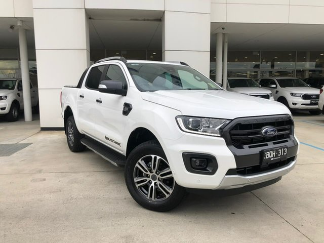 Demo Ford Ranger PX MkIII 2021.25MY Wildtrak Oakleigh, 2021 Ford Ranger PX MkIII 2021.25MY Wildtrak White 6 Speed Manual Double Cab Pick Up