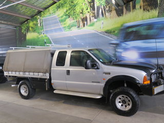 2003 Ford F250 RM XLT (4x4) Silver 4 Speed Automatic Super Cab Pickup.