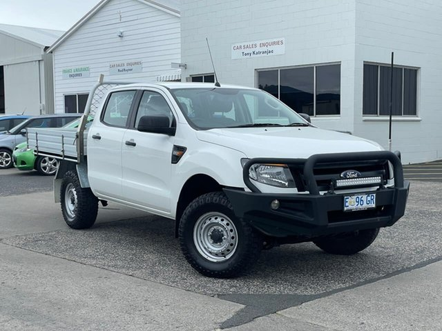 Used Ford Ranger PX XL Moonah, 2015 Ford Ranger PX XL White 6 Speed Manual Cab Chassis