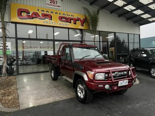 2016 Toyota Landcruiser LC70 VDJ79R  GXL (4x4) Maroon 5 Speed Manual Cab Chassis.