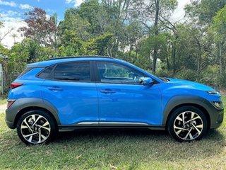 2021 Hyundai Kona Os.v4 MY21 Highlander 2WD Surfy Blue 8 Speed Constant Variable Wagon