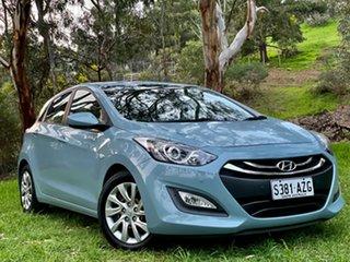 2013 Hyundai i30 GD2 Active Stone Blue/charcoal 6 Speed Sports Automatic Hatchback.