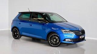 2020 Skoda Fabia NJ MY20.5 81TSI DSG Monte Carlo Blue 7 Speed Sports Automatic Dual Clutch Hatchback.