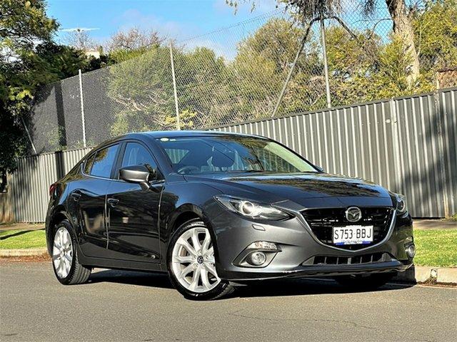 Used Mazda 3 BM5238 SP25 SKYACTIV-Drive GT Hyde Park, 2014 Mazda 3 BM5238 SP25 SKYACTIV-Drive GT Silver 6 Speed Sports Automatic Sedan