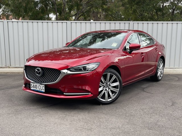 Demo Mazda 6 GL1033 Atenza SKYACTIV-Drive Hindmarsh, 2021 Mazda 6 GL1033 Atenza SKYACTIV-Drive Soul Red Crystal 6 Speed Sports Automatic Sedan