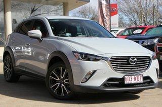 2016 Mazda CX-3 DK4W7A sTouring SKYACTIV-Drive i-ACTIV AWD White 6 Speed Sports Automatic Wagon.