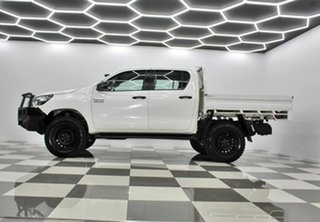 2019 Toyota Hilux GUN126R MY19 Upgrade SR (4x4) White 6 Speed Automatic Double Cab Chassis