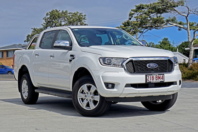 Used Ford Ranger PX MkIII 2021.25MY XLT Hi-Rider Capalaba, 2021 Ford Ranger PX MkIII 2021.25MY XLT Hi-Rider Arctic White 6 Speed Sports Automatic