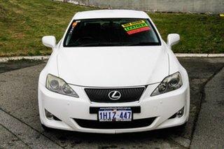 2006 Lexus IS GSE20R IS250 Prestige White 6 Speed Sports Automatic Sedan