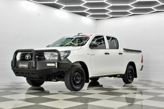 2018 Toyota Hilux TGN121R MY19 Workmate White 6 Speed Automatic Double Cab Pick Up