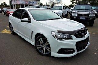 2014 Holden Commodore VF MY14 SV6 White 6 Speed Sports Automatic Sedan.
