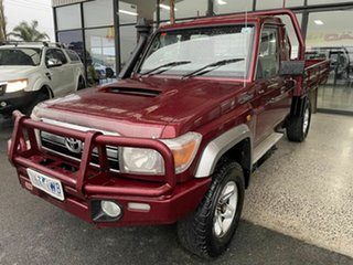 2016 Toyota Landcruiser LC70 VDJ79R  GXL (4x4) Maroon 5 Speed Manual Cab Chassis