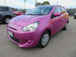 2014 Mitsubishi Mirage LA ES Pink Continuous Variable Hatchback.