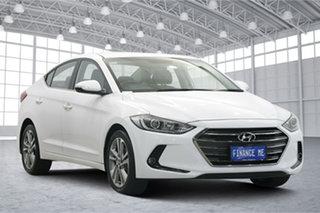 2017 Hyundai Elantra AD MY17 Elite White 6 Speed Sports Automatic Sedan.