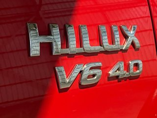 2008 Toyota Hilux GGN25R MY09 SR5 Red 5 Speed Automatic Utility