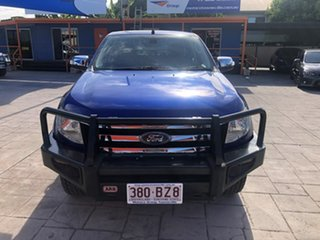 2014 Ford Ranger PX XLT Double Cab 4x2 Hi-Rider Blue 6 Speed Sports Automatic Utility.