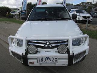 2014 Mitsubishi Triton MN MY14 Update GLX (4x4) White 5 Speed Manual 4x4 Double Cab Chassis.