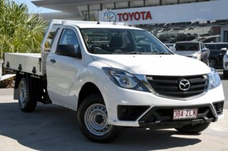 2019 Mazda BT-50 UR0YE1 XT 4x2 White 6 Speed Manual Cab Chassis.