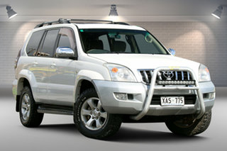 2004 Toyota Landcruiser Prado KZJ120R Grande White 4 Speed Automatic Wagon.