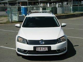 2012 Volkswagen Passat 3C MY12 125 TDI Highline White 6 Speed Direct Shift Wagon.