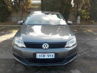 2013 Volkswagen Jetta 1KM MY13.5 118 TSI Grey 7 Speed Auto Direct Shift Sedan.