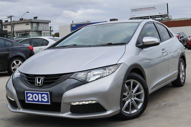 Used Honda Civic 9th Gen MY13 VTi-S Coburg North, 2013 Honda Civic 9th Gen MY13 VTi-S Silver 6 Speed Manual Hatchback