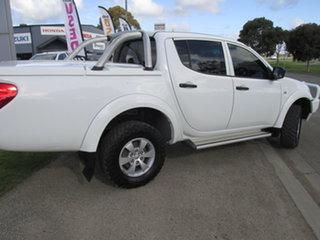 2014 Mitsubishi Triton MN MY14 Update GLX (4x4) White 5 Speed Manual 4x4 Double Cab Chassis
