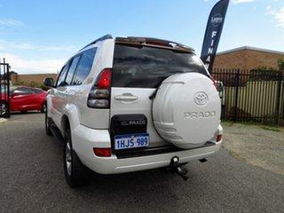 2008 Toyota Landcruiser Prado KDJ120R 07 Upgrade VX (4x4) White 5 Speed Automatic Wagon