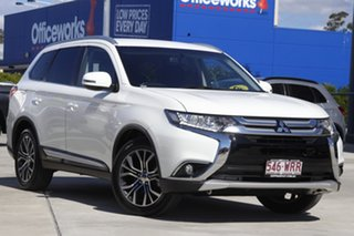 2016 Mitsubishi Outlander ZK MY16 LS 4WD White 6 Speed Constant Variable Wagon.