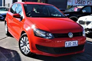 2013 Volkswagen Polo 6R MY13.5 Trendline Red 5 Speed Manual Hatchback.