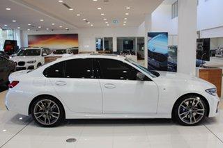2020 BMW 3 Series G20 M340i Steptronic xDrive Mineral White 8 Speed Sports Automatic Sedan.