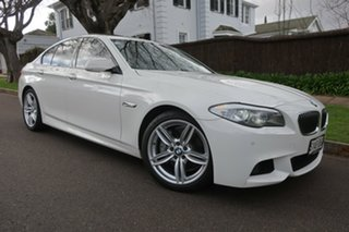 2013 BMW 5 Series F10 LCI 535i Steptronic M Sport White 8 Speed Sports Automatic Sedan.