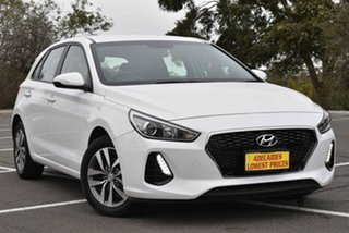 2018 Hyundai i30 PD2 MY18 Active D-CT White 7 Speed Sports Automatic Dual Clutch Hatchback.