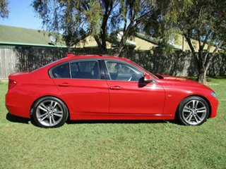 2015 BMW 3 Series F30 MY1114 320i Sport Line Red 8 Speed Sports Automatic Sedan.