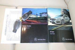 2015 Mercedes-Benz B-Class W246 B200 CDI DCT White 7 Speed Sports Automatic Dual Clutch Hatchback.