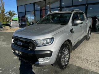 2017 Ford Ranger PX MkII MY17 Update Wildtrak 3.2 (4x4) Silver 6 Speed Automatic Dual Cab Pick-up