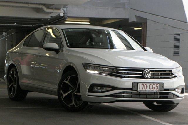 Demo Volkswagen Passat 3C (B8) MY21 140TSI DSG Business Indooroopilly, 2021 Volkswagen Passat 3C (B8) MY21 140TSI DSG Business Pure White 7 Speed